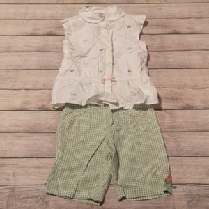 Gymboree 2 Piece Tulip Garden Matching Set